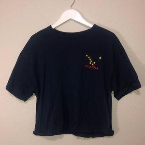 Cropped oversized T-shirt